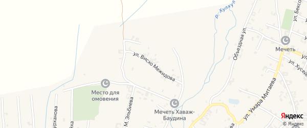 Улица Висхо Межидова на карте села Автуры Чечни с номерами домов