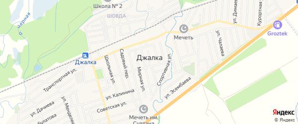Карта села Джалка в Чечне с улицами и номерами домов