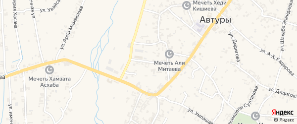 Улица Хусейна Эльдарова на карте села Автуры Чечни с номерами домов