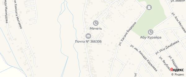 Переулок Дружбы на карте села Автуры Чечни с номерами домов