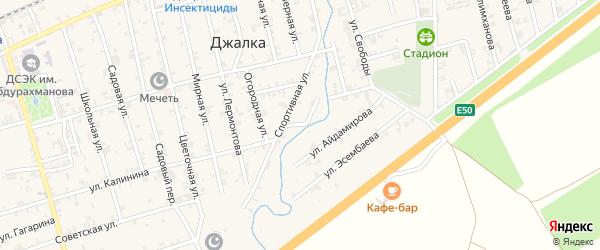 Речная улица на карте села Джалка Чечни с номерами домов