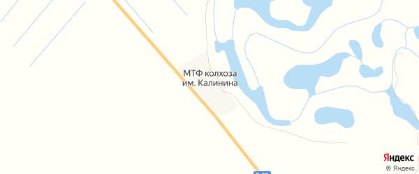 Карта поселка МТФ Колхоза им Калинина в Астраханской области с улицами и номерами домов