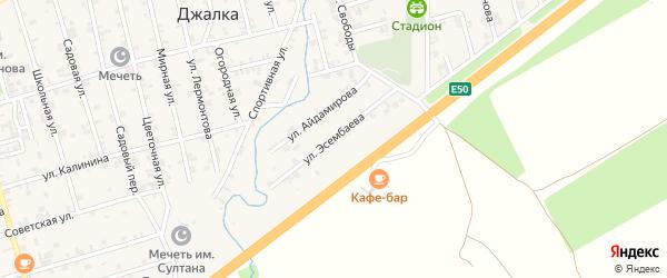 Улица Эсембаева на карте села Джалка Чечни с номерами домов