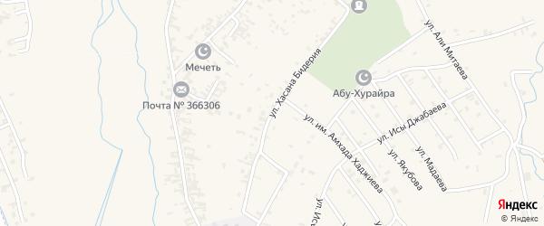 Улица им Хусайна-Хасана Али-Мансура Бидерий на карте села Автуры Чечни с номерами домов
