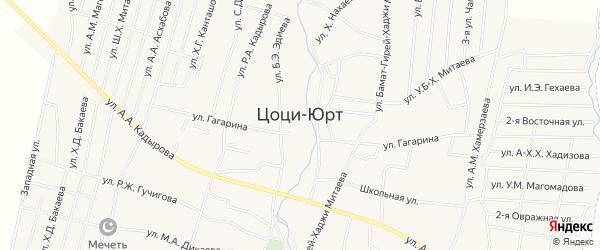 Карта села Цоци-Юрт в Чечне с улицами и номерами домов