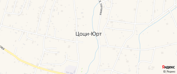 Улица Хакима Бердаева на карте села Цоци-Юрт с номерами домов