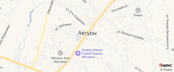 Улица Абухаджи Идрисова на карте села Автуры Чечни с номерами домов