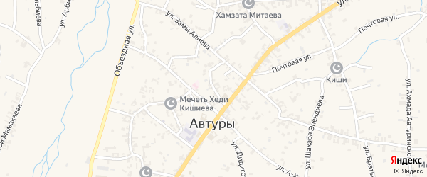 Улица Им Камалдин Халидова на карте села Автуры Чечни с номерами домов