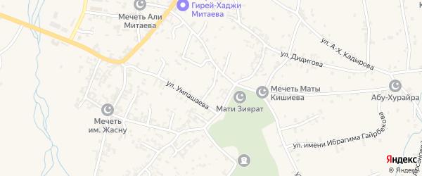 Гончарный переулок на карте села Автуры Чечни с номерами домов