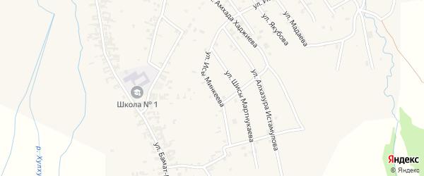 Улица Исы Минкеева на карте села Автуры Чечни с номерами домов