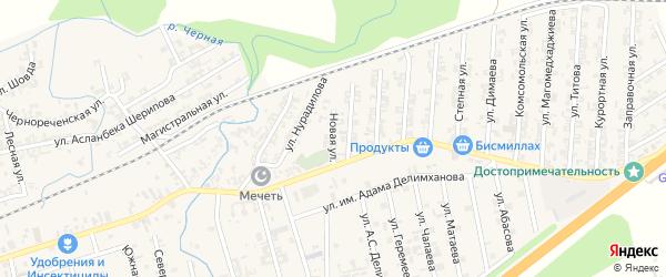 Улица Новые Планы на карте села Джалка Чечни с номерами домов