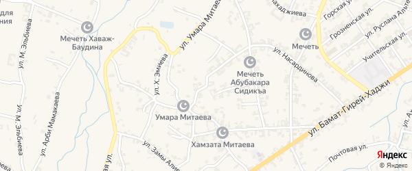 Улица Насардинова на карте села Автуры Чечни с номерами домов