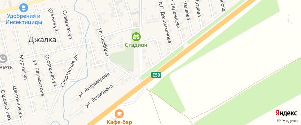 Лесной переулок на карте села Джалка Чечни с номерами домов