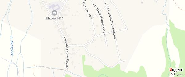 Улица им Братьев Юсупхаджиевых на карте села Автуры Чечни с номерами домов