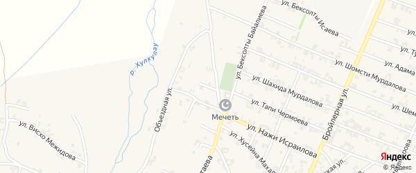 Переулок Мовсара Кишиева на карте села Автуры Чечни с номерами домов