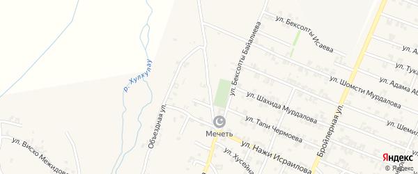 Улица Мовсара Кишиева на карте села Автуры Чечни с номерами домов