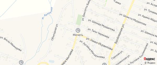Улица им Бексолты Байалиева на карте села Автуры Чечни с номерами домов