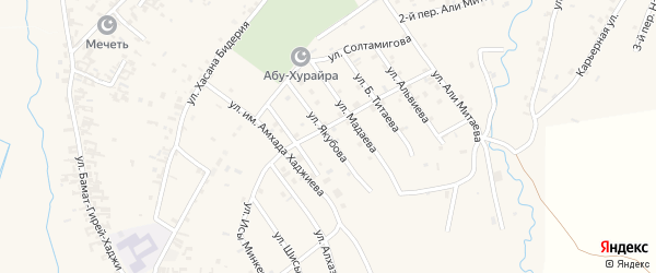 Улица им А.Якубова на карте села Автуры Чечни с номерами домов
