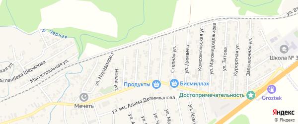Грушевая улица на карте села Джалка Чечни с номерами домов