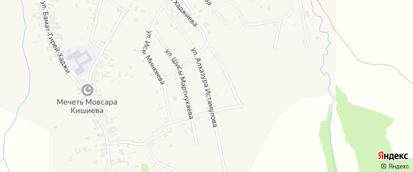 Улица Алхазура Истамулова на карте села Автуры Чечни с номерами домов
