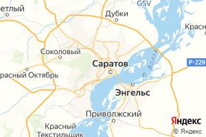 Карта г. Саратов Саратовская область