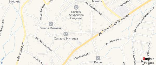 Улица Им У.Джабраилова на карте села Автуры Чечни с номерами домов