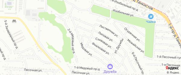 1-й Терновый проезд на карте Саратова с номерами домов