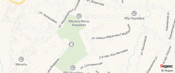 Улица Им Али Митаева на карте села Автуры Чечни с номерами домов