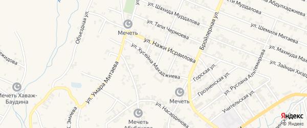 Улица Махаджиева Хусейна на карте села Автуры Чечни с номерами домов