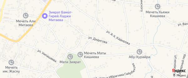 Улица Б.Дидигова на карте села Автуры Чечни с номерами домов