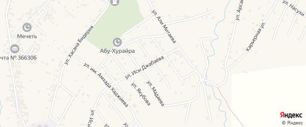 Улица Бувайсара Титаева на карте села Автуры Чечни с номерами домов