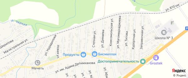 Степная улица на карте села Джалка Чечни с номерами домов