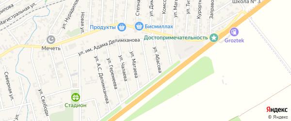 Улица Пайзулаева на карте села Джалка Чечни с номерами домов