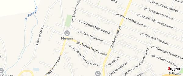 Калужская улица на карте села Автуры Чечни с номерами домов