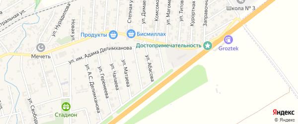 Улица Им Р.Абасова на карте села Джалка Чечни с номерами домов