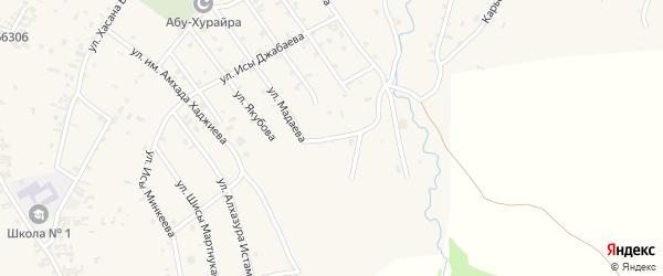Лесхозный переулок на карте села Автуры Чечни с номерами домов