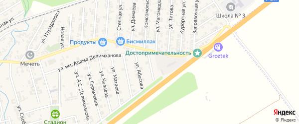 Заводская улица на карте села Джалка Чечни с номерами домов