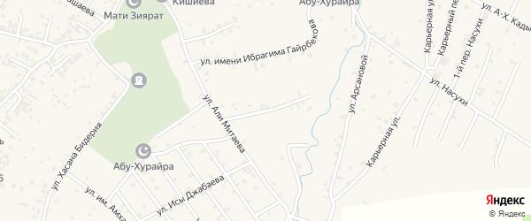 Переулок 2-й А.Митаева на карте села Автуры Чечни с номерами домов