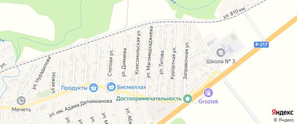 Улица Магомедхаджиева на карте села Джалка Чечни с номерами домов