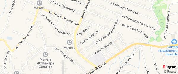 Грозненская улица на карте села Автуры Чечни с номерами домов