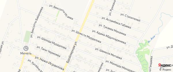 Улица Им Шомсти Мурдалова на карте села Автуры Чечни с номерами домов