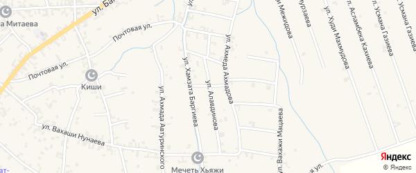 Переулок 1-й Х.Баргиева на карте села Автуры Чечни с номерами домов