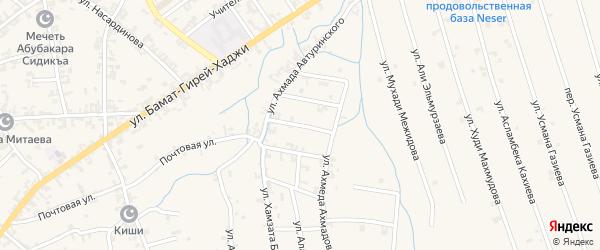 Переулок 2-й А.Автуринского на карте села Автуры Чечни с номерами домов