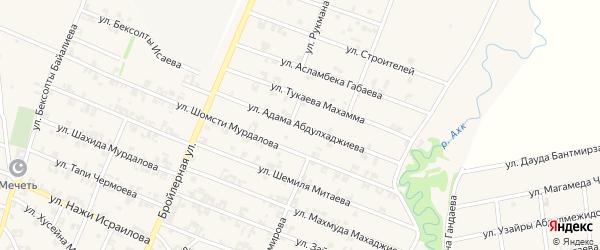 Улица Адама Абдулхаджиева на карте села Автуры Чечни с номерами домов