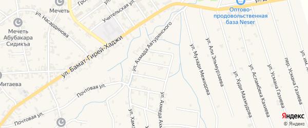 Переулок 1-й А.Автуринского на карте села Автуры Чечни с номерами домов