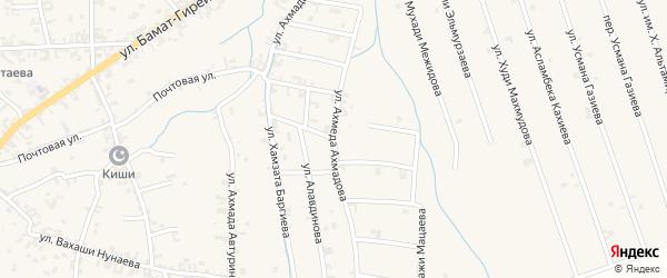 Улица Ахмеда Ахмадова на карте села Автуры Чечни с номерами домов