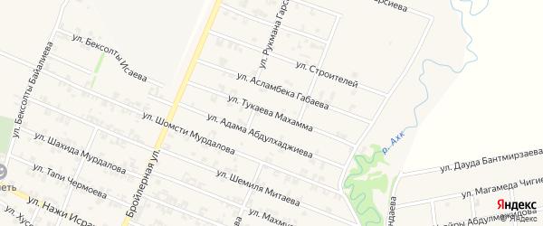 Улица Тукаева Махамма на карте села Автуры Чечни с номерами домов