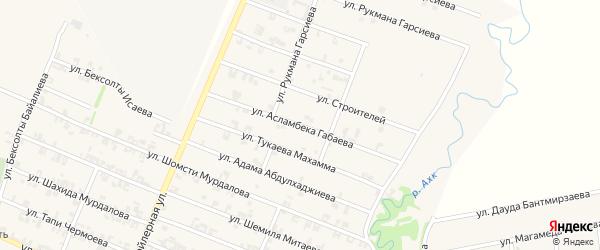 Улица А.Габаева на карте села Автуры Чечни с номерами домов