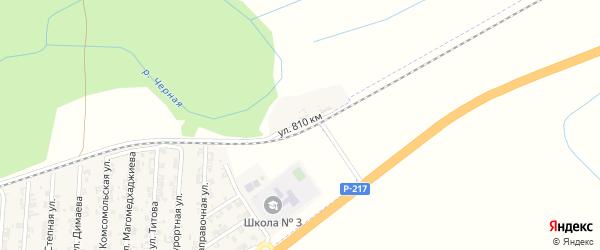 Улица 810 км на карте села Джалка Чечни с номерами домов