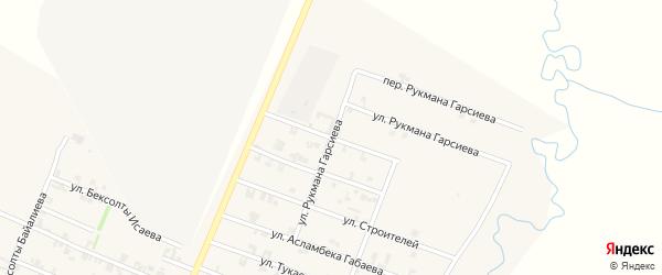Улица Гиримсолты Исаева на карте села Автуры Чечни с номерами домов